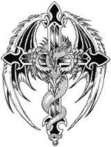Imprimer le coloriage : Dragon, numéro 16361