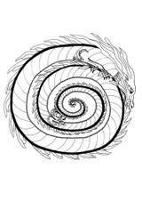 Imprimer le coloriage : Dragon, numéro 16373