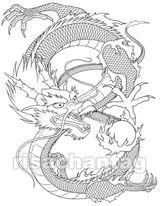 Imprimer le coloriage : Dragon, numéro 16377