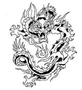 Imprimer le coloriage : Dragon, numéro 166