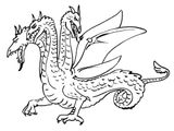 Imprimer le coloriage : Dragon, numéro 2f4764a9
