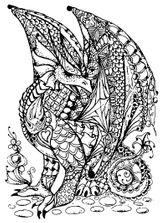 Imprimer le coloriage : Dragon, numéro 4587be2b