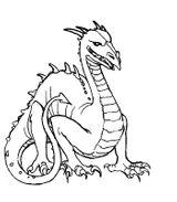 Imprimer le coloriage : Dragon, numéro 4727