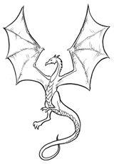 Imprimer le coloriage : Dragon, numéro 4738