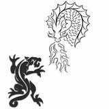 Imprimer le coloriage : Dragon, numéro 4745
