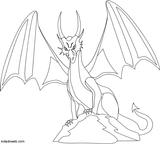 Imprimer le coloriage : Dragon, numéro 4746