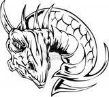 Imprimer le coloriage : Dragon, numéro 475719