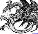 Imprimer le coloriage : Dragon, numéro 682604