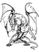 Imprimer le coloriage : Dragon, numéro 6cbc9c0c