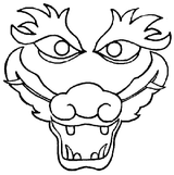 Imprimer le coloriage : Dragon, numéro 8726