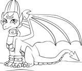 Imprimer le coloriage : Dragon, numéro aecb4528