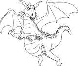 Imprimer le coloriage : Dragon, numéro b0c29f18