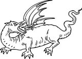 Imprimer le coloriage : Dragon, numéro b16f7ea7