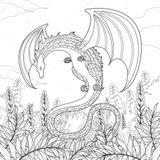 Imprimer le coloriage : Dragon, numéro e8f8b8c3