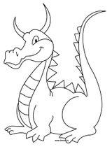 Imprimer le coloriage : Dragon, numéro ef631796