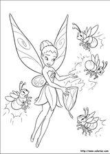 Imprimer le coloriage : Fée Clochette, numéro 4244