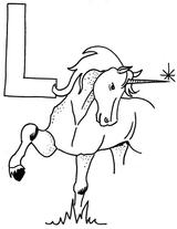 Imprimer le coloriage : Licorne, numéro 16851