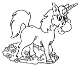 Imprimer le coloriage : Licorne, numéro 16852