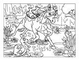 Imprimer le coloriage : Licorne, numéro 21550