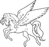 Imprimer le coloriage : Licorne, numéro 249640