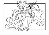 Imprimer le coloriage : Licorne, numéro 2fbb3a8b