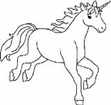 Imprimer le coloriage : Licorne, numéro 3951