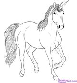 Imprimer le coloriage : Licorne, numéro 3955