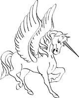 Imprimer le coloriage : Licorne, numéro 3960