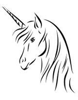Imprimer le coloriage : Licorne, numéro 3967