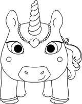 Imprimer le coloriage : Licorne, numéro 3976