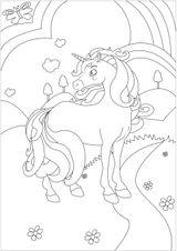 Imprimer le coloriage : Licorne, numéro 45b3c316