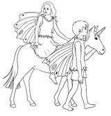 Imprimer le coloriage : Licorne, numéro 499390
