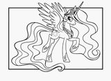 Imprimer le coloriage : Licorne, numéro 4b429a4e