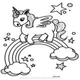 Imprimer le coloriage : Licorne, numéro 64f45c60