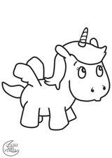 Imprimer le coloriage : Licorne, numéro 688533
