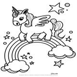 Imprimer le coloriage : Licorne, numéro 6a634bdb