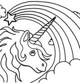 Imprimer le coloriage : Licorne, numéro 74cc0d8c