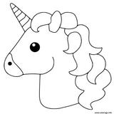 Imprimer le coloriage : Licorne, numéro 757eae25