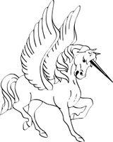 Imprimer le coloriage : Licorne, numéro 87a6a25c