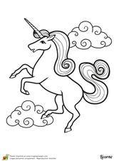Imprimer le coloriage : Licorne, numéro b63c68f1