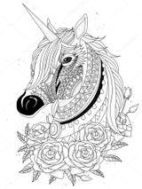 Imprimer le coloriage : Licorne, numéro ece94c2b