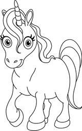 Imprimer le coloriage : Licorne, numéro f28e8548