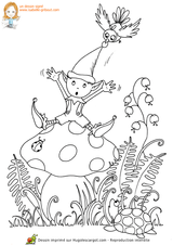 Imprimer le coloriage : Lutin, numéro 341875