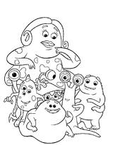 Imprimer le coloriage : Monstres, numéro 209492