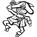 Imprimer le coloriage : Pirate, numéro 15901