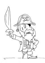 Imprimer le coloriage : Pirate, numéro 500b3a3a