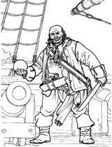 Imprimer le coloriage : Pirate, numéro 5606e9d3
