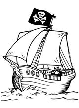 Imprimer le coloriage : Pirate, numéro 71505ecb