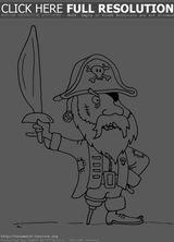 Imprimer le coloriage : Pirate, numéro 957176ce