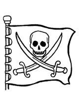 Imprimer le coloriage : Pirate, numéro bed112e